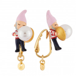 Boucles D'oreilles Originales Boucles d'oreilles clip nain et petite perle45,00€ AHBN119C/1N2 by Les Néréides