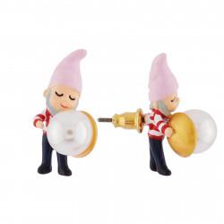 Boucles D'oreilles Originales Boucles d'oreilles nain et petite perle45,00€ AHBN119T/1N2 by Les Néréides