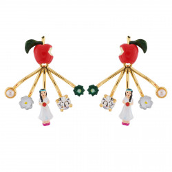 Boucles D'oreilles Originales Boucles d'oreilles pomme empoisonnée et fermoir amovible blanche neige75,00€ AHBN123T/1N2 by L...