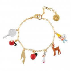 Bracelets Originaux Bracelet multi pampilles blanche neige et les 7 nains65,00€ AHBN204/1N2 by Les Néréides