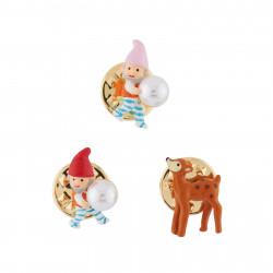 Accessoires Originaux Set De 3 Pins Nains Et Petite Biche55,00€ AHBN401/1N2 by Les Néréides