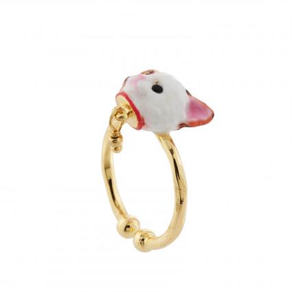 Sparkling pink asymmetrical ballerina earrings