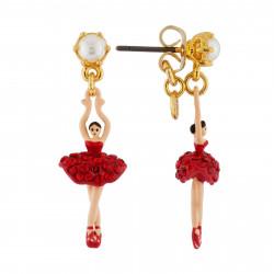 Boucles D'oreilles Pendantes Boucles D'oreilles Mini Ballerine En Tutu Pavé De Strass Rouges80,00€ AHMDD101T/8Les Néréides
