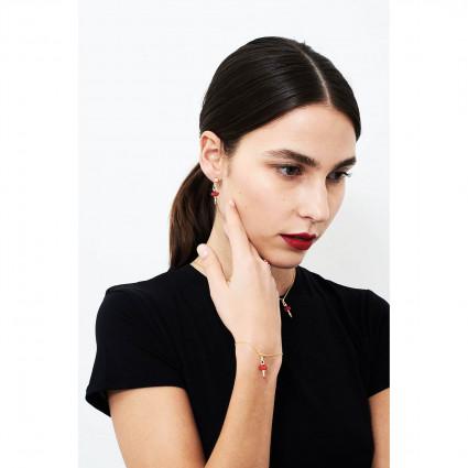 Boucles d'oreilles ballerine rose scintillant sur pointes