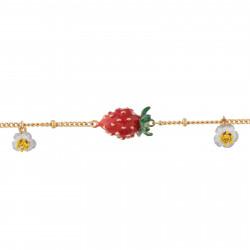 Bracelets Fins Bracelet petites fraises et fleurs blanches80,00€ AHPO202/1Les Néréides