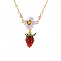 Colliers Pendentifs Collier petite fraise et fleur blanche70,00€ AHPO307/1Les Néréides