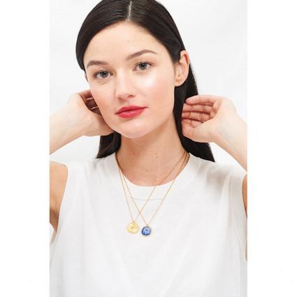 Boucles d'oreilles clip 4 pierres bleu givré
