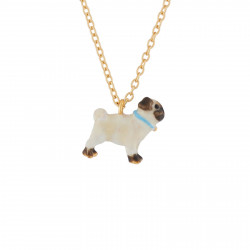 Pug Pendant Thin Necklace