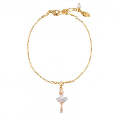 Bracelets Fins Bracelet À Chaîne Mini Ballerine Blanche En Strass60,00€ AJMDD201/10Les Néréides