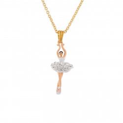 Colliers Pendentifs Collier Pendentif Mini Ballerine Blanche En Strass70,00€ AJMDD301/10Les Néréides