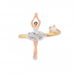Bagues Ajustables Bague ajustable mini ballerine blanche en strass et perle60,00€ AJMDD601/10Les Néréides