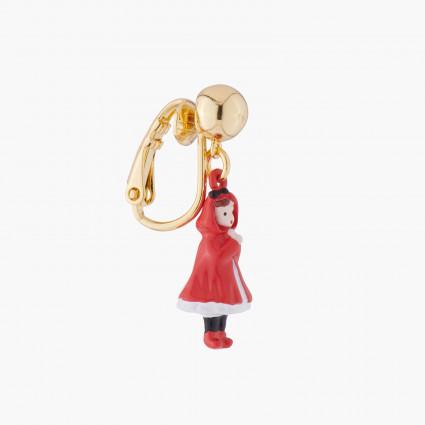 Bracelet pierre ronde rouge vermillon