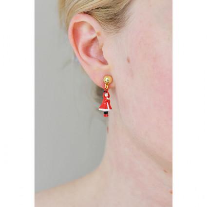 Bracelet 5 pierres rouge vermillon