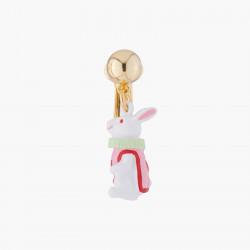 White Rabbit Clip on Earring