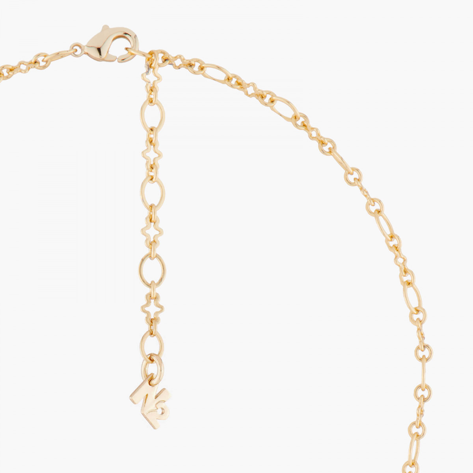 6 Vermilion red stones necklace