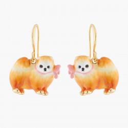 Brown Pomeranian Hook Earrings