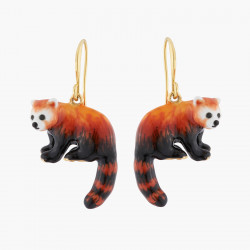 Pendientes Hook Panda Rojo