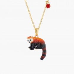 Collar Pendiente Panda Rojo
