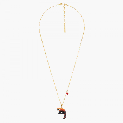 Four-leaf-clover and orange stone lucky bracelet