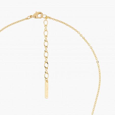 Bracelet chanceux pierre fuschia et petite fleur