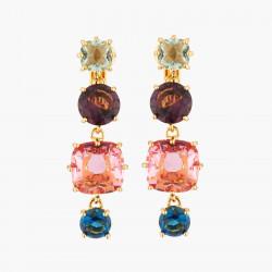 Boucles D'oreilles Clip Boucles d'oreilles clips 4 pierres la diamantine multicolore80,00€ AKLD120C/1Les Néréides