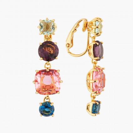 Bracelet chanceux pierre violette et petit cœoeur