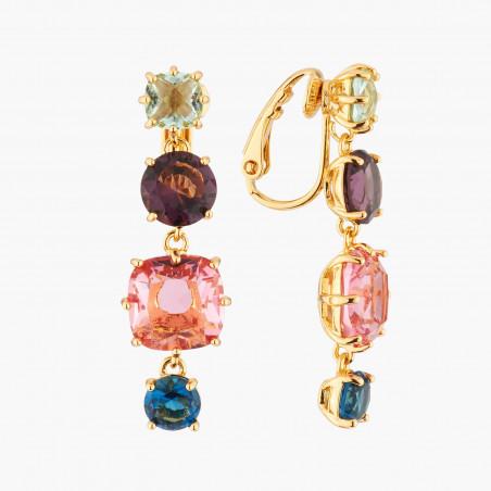 Bracelet chanceux pierre violette et petit cœur