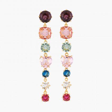 Boucles D'oreilles Pendantes Boucles D'oreilles Tiges 7 Pierres La Diamantine Multicolore130,00€ AKLD121T/1Les Néréides
