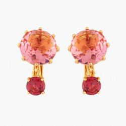 Boucles D'oreilles Clip Boucles D'oreilles Clip Pierres Rondes Rose Et Rouge La Diamantine Multicolore60,00€ AKLD126C/1Les N...