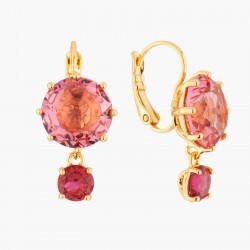 Boucles D'oreilles Dormeuses Boucles D'oreilles Dormeuses Pierres Rondes Rose Et Rouge La Diamantine Multicolore60,00€ AKLD1...