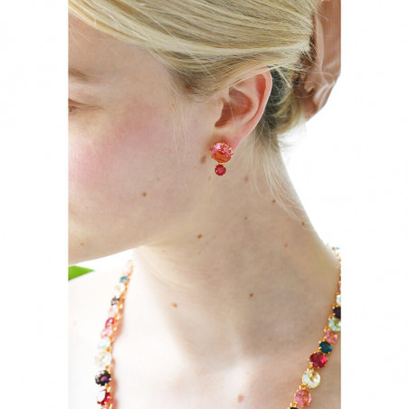 Poppies' buds and heads and charms long necklace