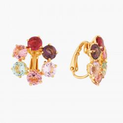 Boucles D'oreilles Clip Petites créoles clips 6 pierres la diamantine multicolore80,00€ AKLD142C/1Les Néréides