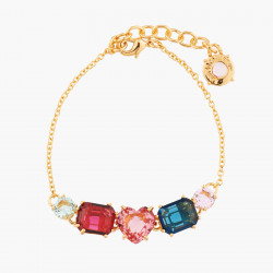 Bunch of beads and chimerical red fruit necklace