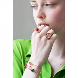 Bagues Ajustables Bague toi et moi pierres cœur rose et carré rouge la diamantine multicolore70,00€ AKLD618/1Les Néréides