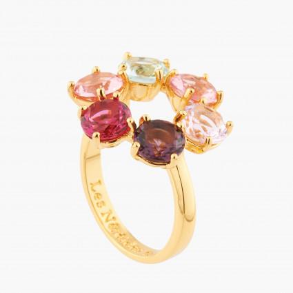 Bagues Fines Bague Fine 6 Pierres La Diamantine Multicolore70,00€ AKLD619/1Les Néréides