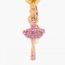 Boucles D'oreilles Clip Boucles D'oreilles Clip Mini Ballerine Sur Pointe Cristaux Roses80,00€ AKMDD101C/10Les Néréides