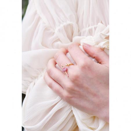 Boucles d'oreilles cascade de grappes de perles et verre taillé