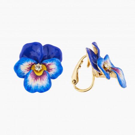 Interlaced buds of chimerical flowers semi-rigid bracelet
