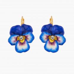 Boucles D'oreilles Dormeuses Boucles D'oreilles Dormeuses Pensée Bleu Et Cristal120,00€ AKMP103D/1Les Néréides