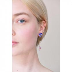 Mini ballerina with a silvered tutu earrings