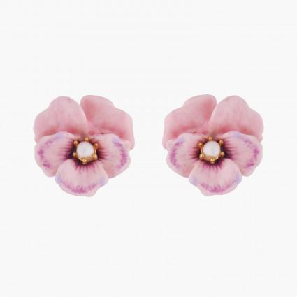 Boucles D'oreilles Tiges Boucles D'oreilles Tiges Pensée Rose Et Perle70,00€ AKMP108T/1Les Néréides