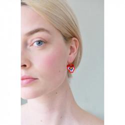 Boucles D'oreilles Dormeuses Boucles D'oreilles Dormeuses Pensée Rouge Et Cristal Taillé95,00€ AKMP109D/1Les Néréides