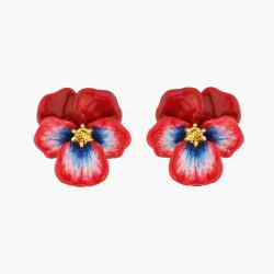 Boucles D'oreilles Tiges Boucles d'oreilles tiges pensée rouge et cristal taillé95,00€ AKMP109T/1Les Néréides