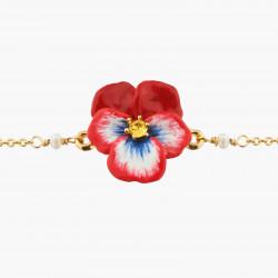 Bracelets Fins Bracelet Fin Pensée Rouge Et Cristal90,00€ AKMP204/1Les Néréides