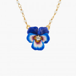 Blue Pansy And Faceted...