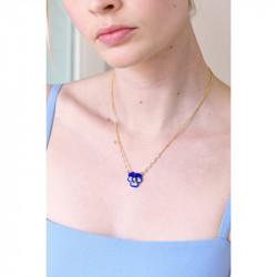 Colliers Pendentifs Collier Pendentif Pensée Bleue Et Cristal Taillé100,00€ AKMP308/1Les Néréides
