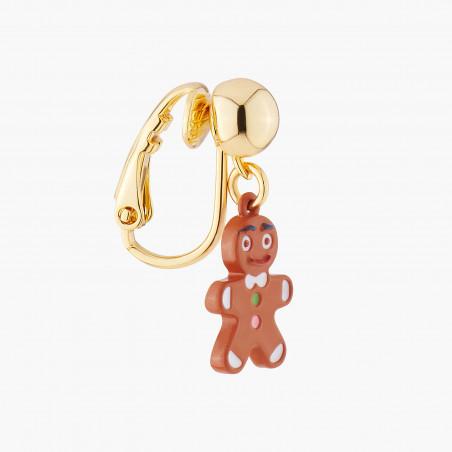 Boucles d'oreilles clip ballerine au tutu pavé de strass turquoise mat