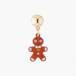 Gingerbread Man Stud Earring