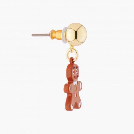 Boucles d'oreilles clip asymétriques ballerine rose scintillant