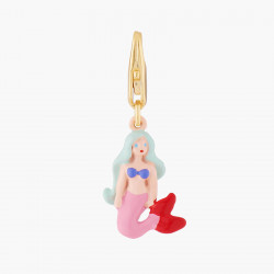 Silvered asymmetrical ballerina clip earrings